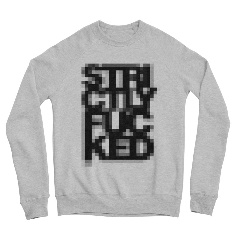 SFCKD No. 1 BLCK pxl Men's Sponge Fleece Sweatshirt by Peer Kriesel's Artist Shop