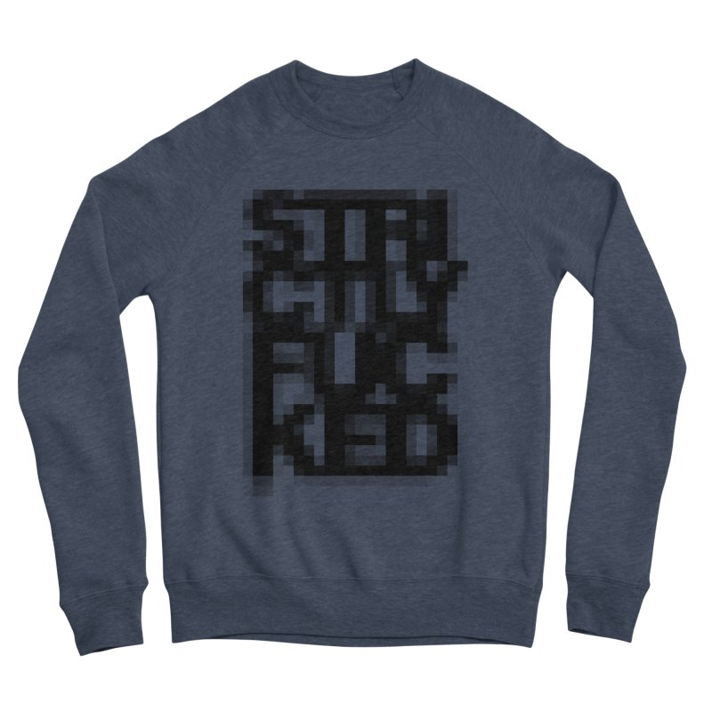 SFCKD No. 1 BLCK pxl Women's Sponge Fleece Sweatshirt by Peer Kriesel's Artist Shop