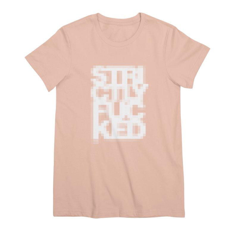 SFCKD No. 1 WHT pxl Women's Premium T-Shirt by Peer Kriesel's Artist Shop