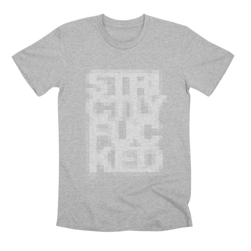 SFCKD No. 1 WHT pxl Men's Premium T-Shirt by Peer Kriesel's Artist Shop