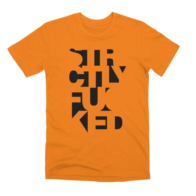 SFCKD INV BLCK Men's T-Shirt by Peer Kriesel's Artist Shop