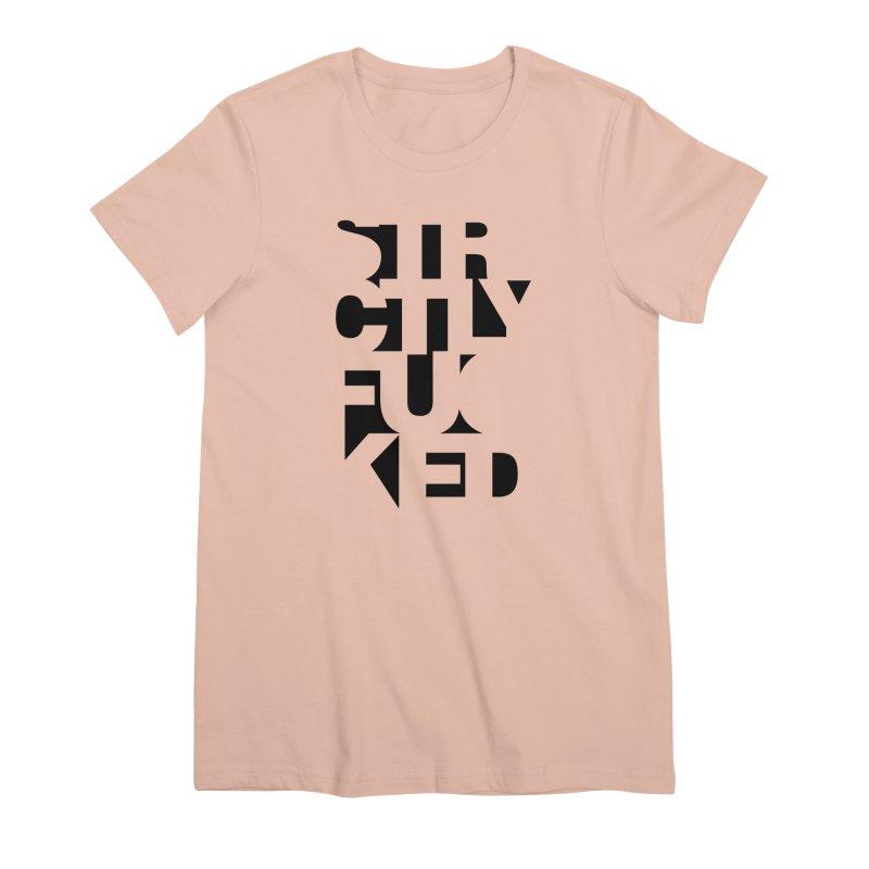 SFCKD INV BLCK Women's Premium T-Shirt by Peer Kriesel's Artist Shop