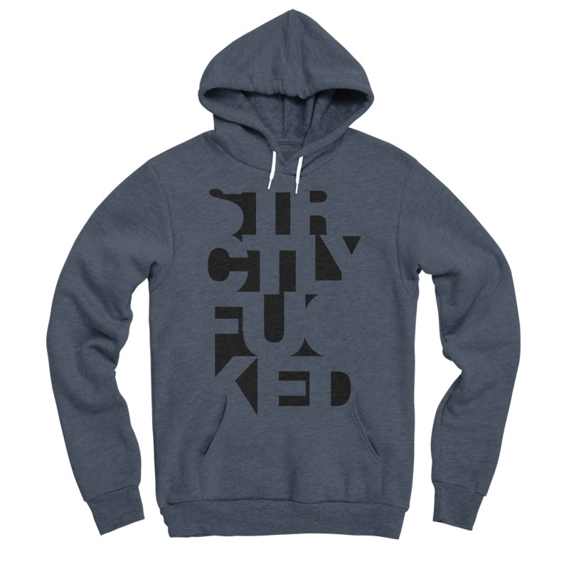 SFCKD INV BLCK Men's Sponge Fleece Pullover Hoody by Peer Kriesel's Artist Shop