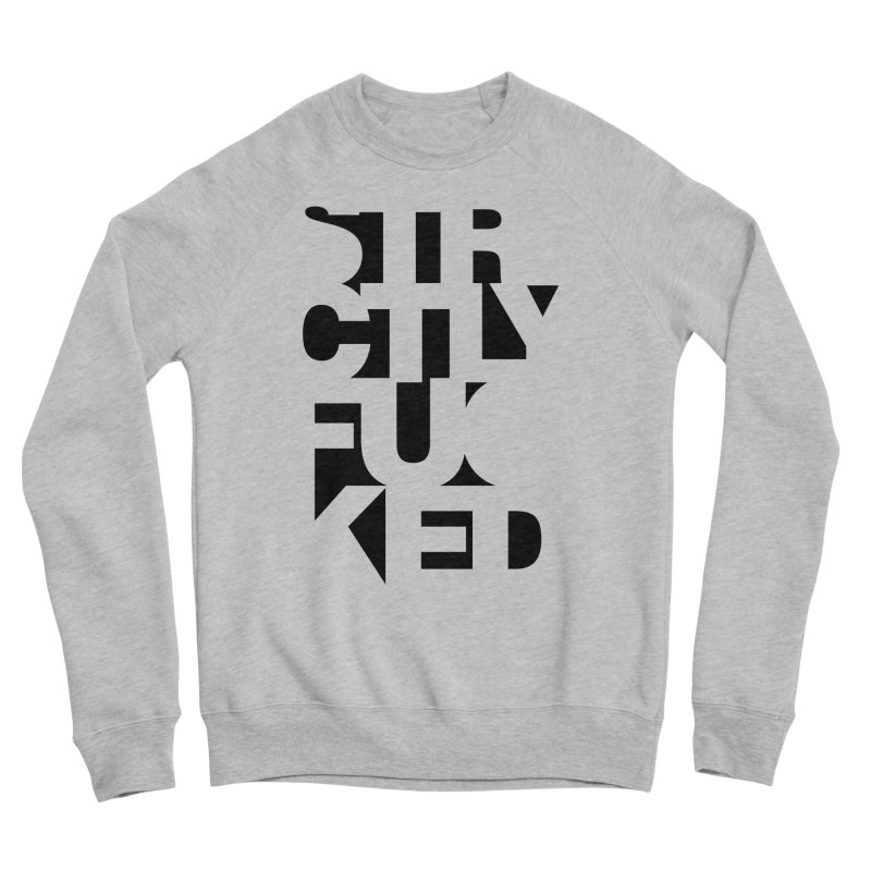 SFCKD INV BLCK Women's Sponge Fleece Sweatshirt by Peer Kriesel's Artist Shop