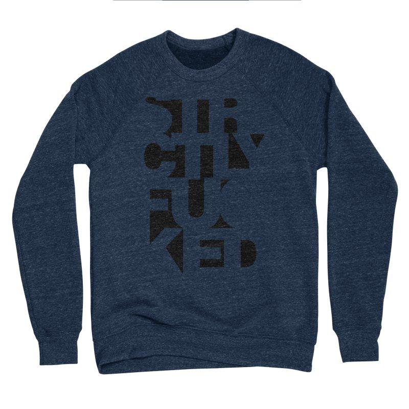 SFCKD INV BLCK Men's Sponge Fleece Sweatshirt by Peer Kriesel's Artist Shop