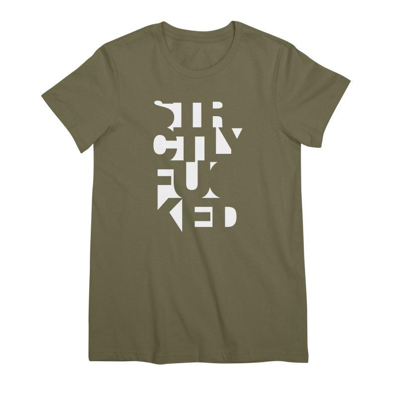 SFCKD INV WHT Women's Premium T-Shirt by Peer Kriesel's Artist Shop