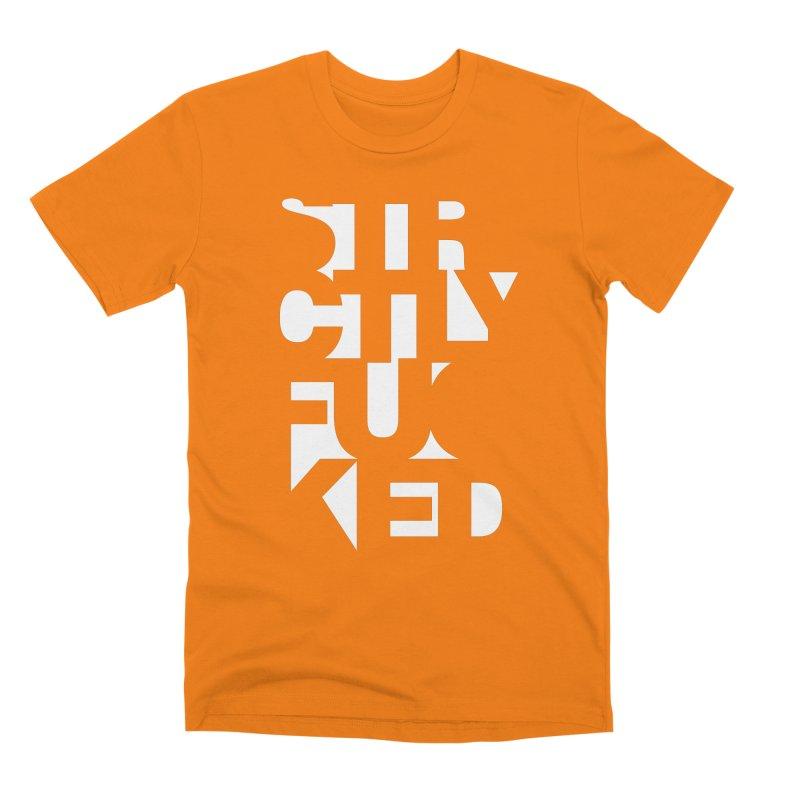 SFCKD INV WHT Men's T-Shirt by Peer Kriesel's Artist Shop