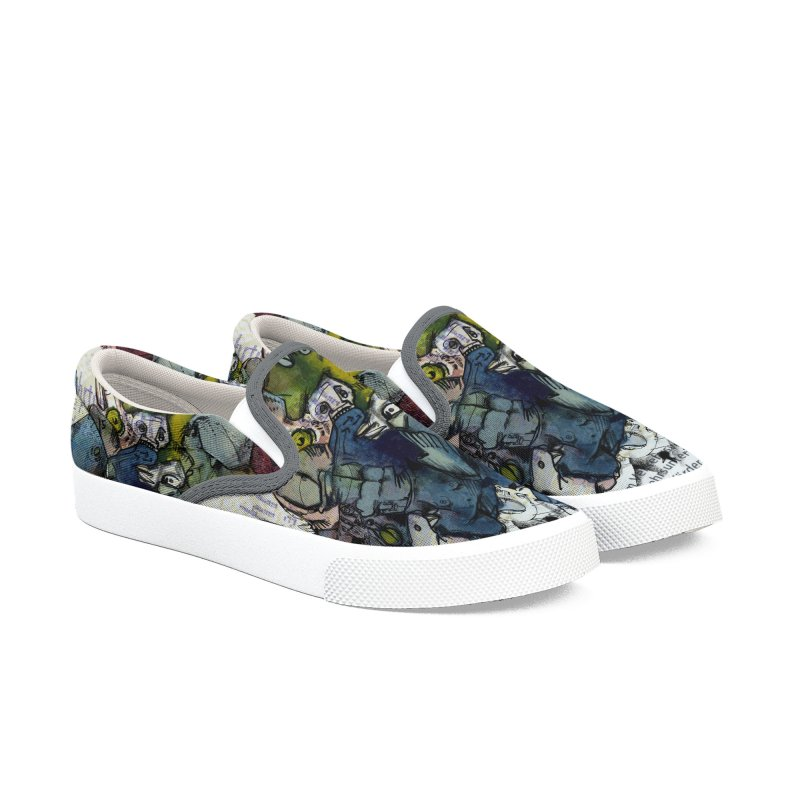 Fahrkarte Berlin #001 Women's Slip-On Shoes by Peer Kriesel's Artist Shop