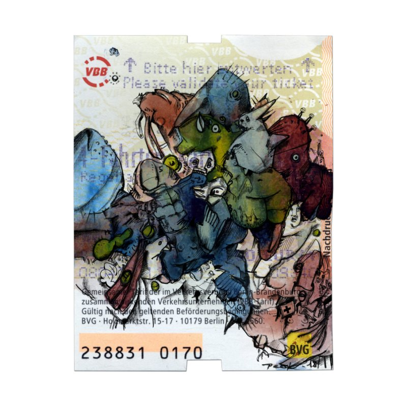Fahrkarte Berlin #001 by Peer Kriesel's Artist Shop