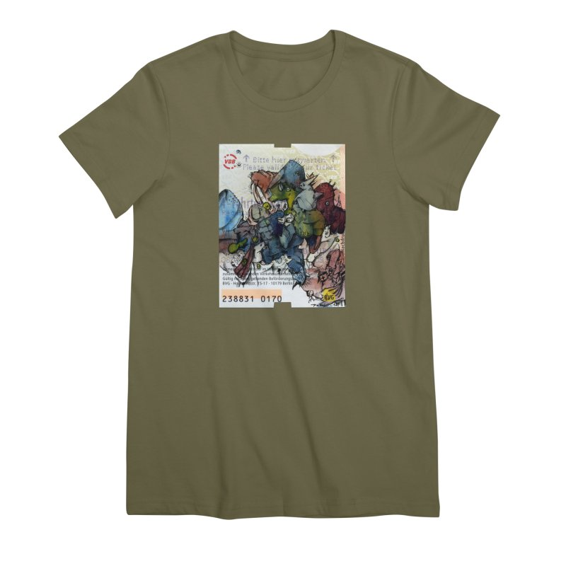 Fahrkarte Berlin #001 Women's Premium T-Shirt by Peer Kriesel's Artist Shop