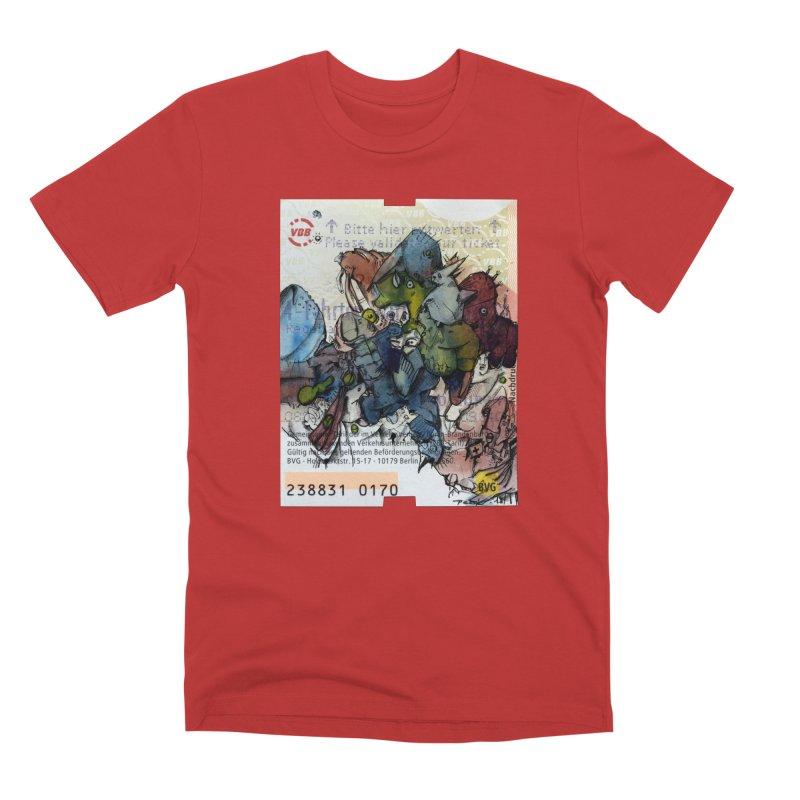 Fahrkarte Berlin #001 Men's Premium T-Shirt by Peer Kriesel's Artist Shop