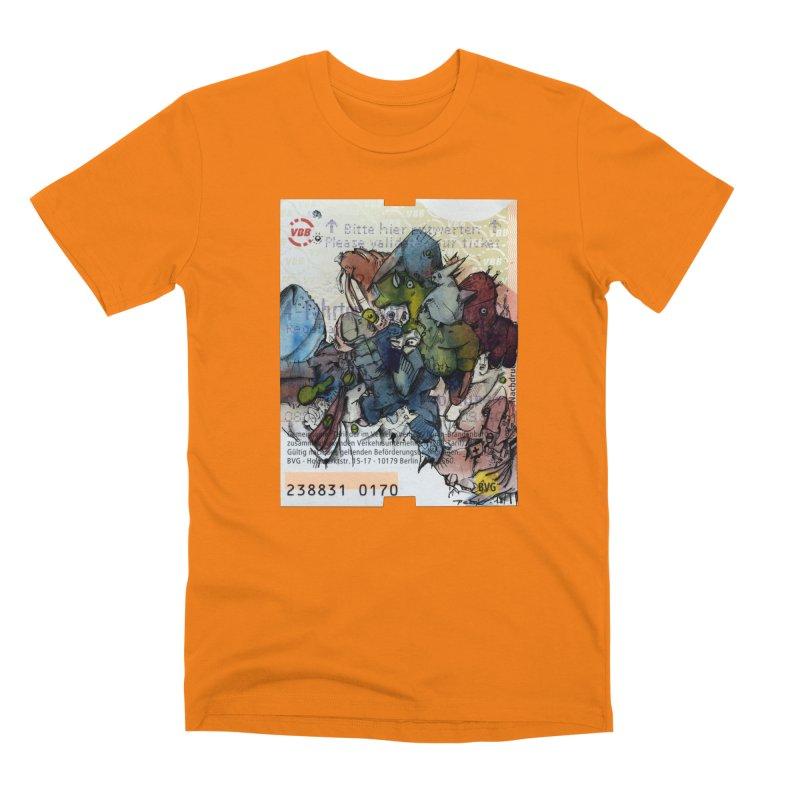 Fahrkarte Berlin #001 Men's T-Shirt by Peer Kriesel's Artist Shop