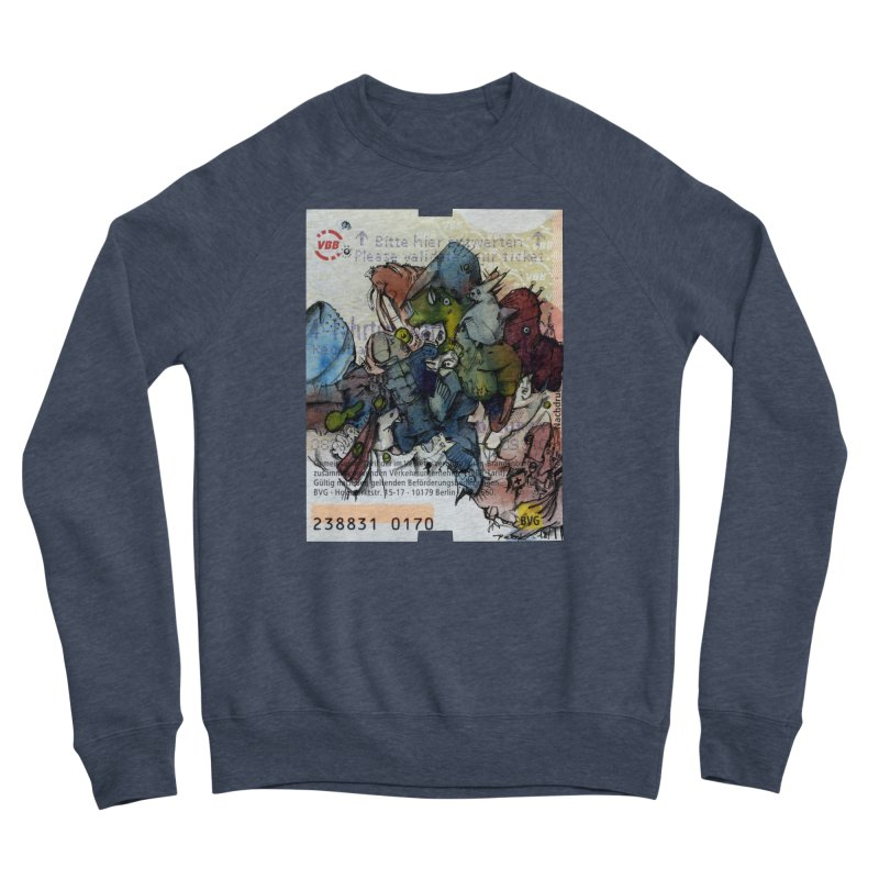 Fahrkarte Berlin #001 Men's Sponge Fleece Sweatshirt by Peer Kriesel's Artist Shop