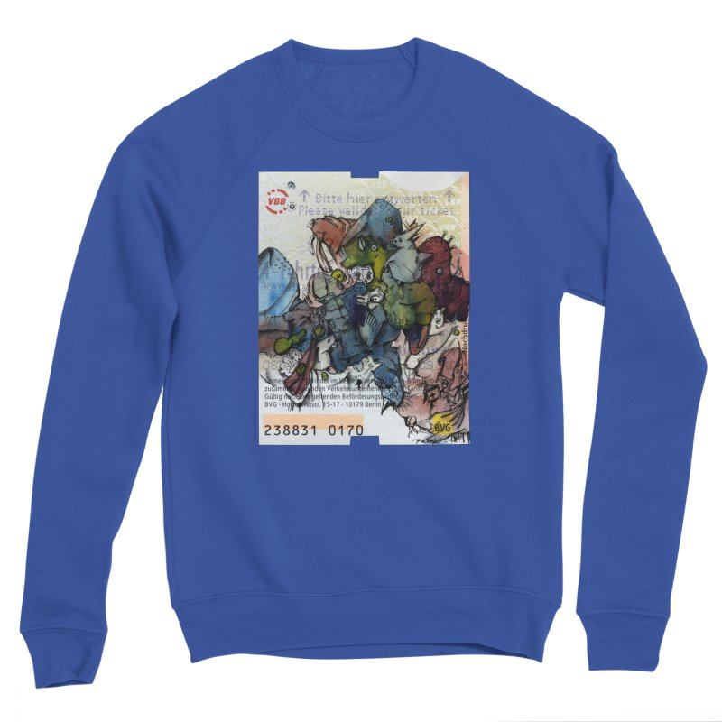 Fahrkarte Berlin #001 Men's Sponge Fleece Sweatshirt by Peer Kriesel's Artist Shop