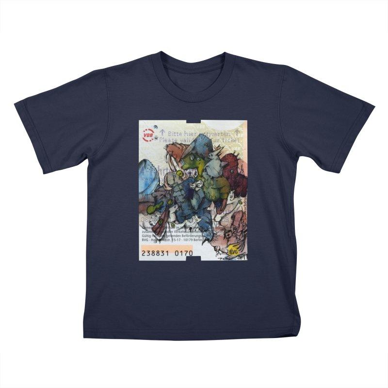 Fahrkarte Berlin #001 Kids T-Shirt by Peer Kriesel's Artist Shop