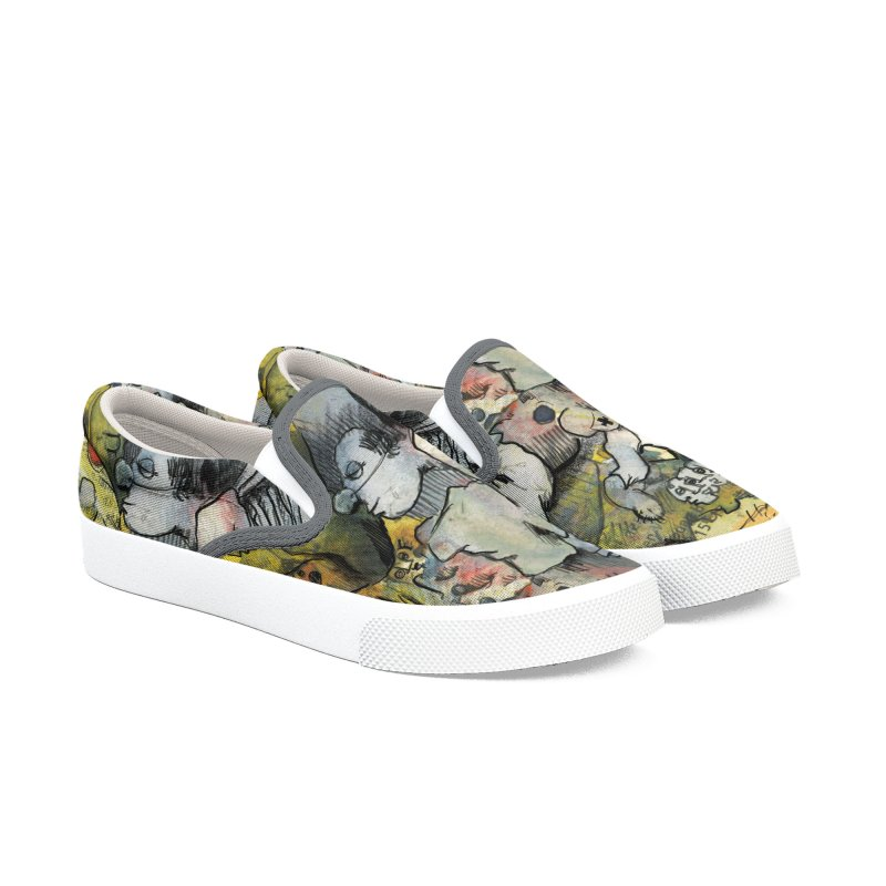 Fahrkarte Berlin #002 Women's Slip-On Shoes by Peer Kriesel's Artist Shop