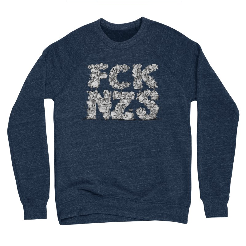 FCK NZS Men's Sponge Fleece Sweatshirt by Peer Kriesel's Artist Shop