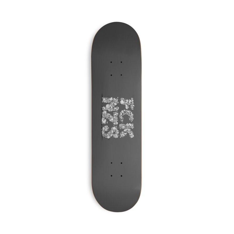 FCK NZS Accessories Deck Only Skateboard by Peer Kriesel's Artist Shop