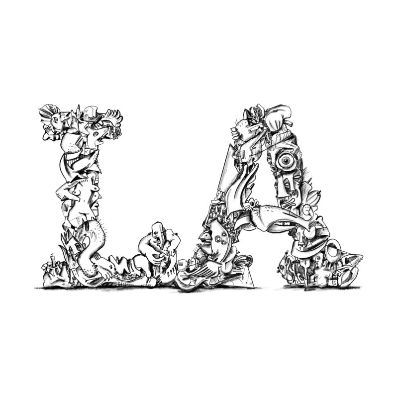 LA Letters/Monogram for Los Angeles by Peer Kriesel's Artist Shop