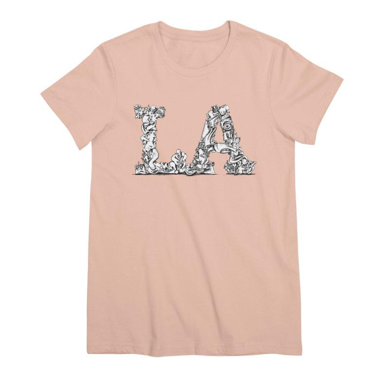 LA Letters/Monogram for Los Angeles Women's Premium T-Shirt by Peer Kriesel's Artist Shop