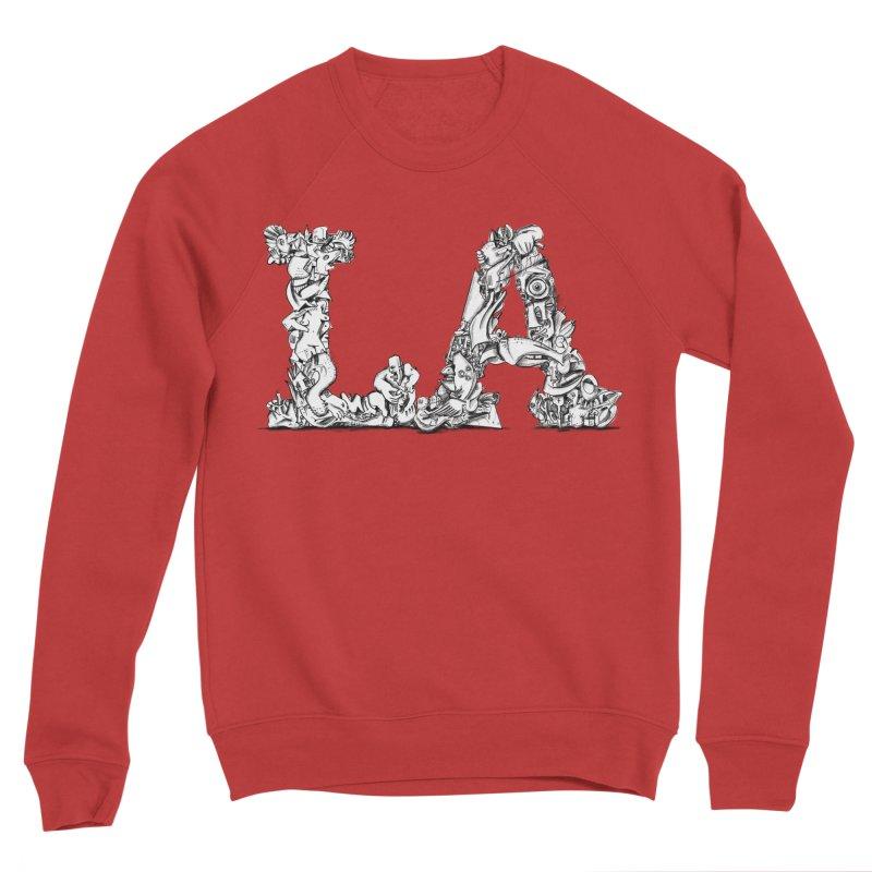 LA Letters/Monogram for Los Angeles Men's Sponge Fleece Sweatshirt by Peer Kriesel's Artist Shop