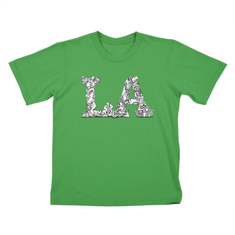 LA Letters/Monogram for Los Angeles Kids T-Shirt by Peer Kriesel's Artist Shop