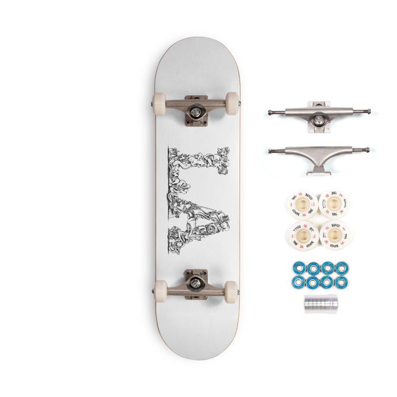 LA Letters/Monogram for Los Angeles Accessories Complete - Premium Skateboard by Peer Kriesel's Artist Shop