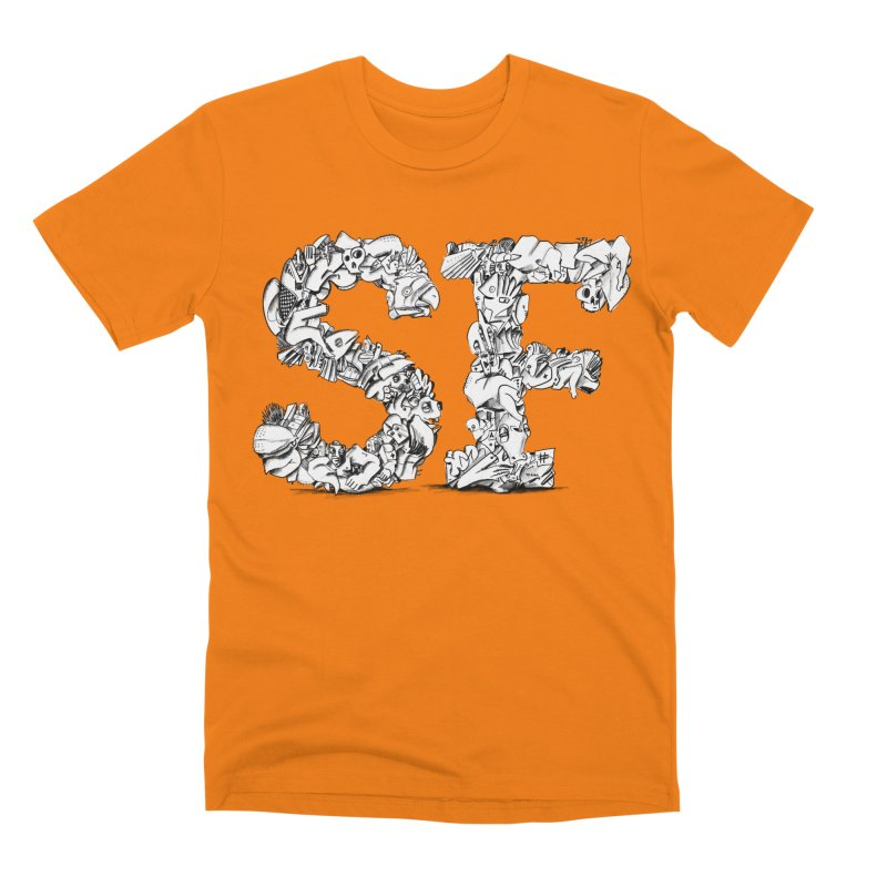 SF Letters for San Francisco Men's T-Shirt by Peer Kriesel's Artist Shop