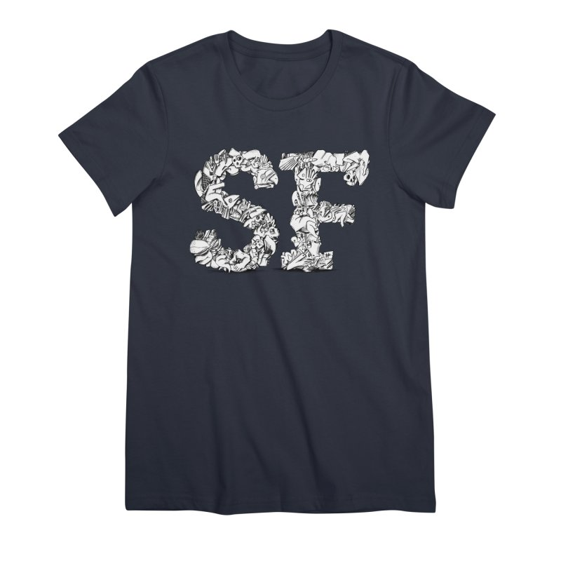 SF Letters for San Francisco Women's Premium T-Shirt by Peer Kriesel's Artist Shop