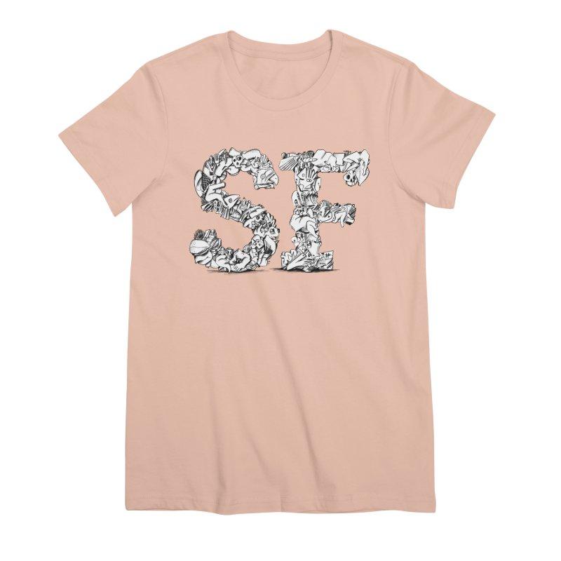 SF Letters for San Francisco Women's Premium T-Shirt by Peer Kriesel's Artist Shop
