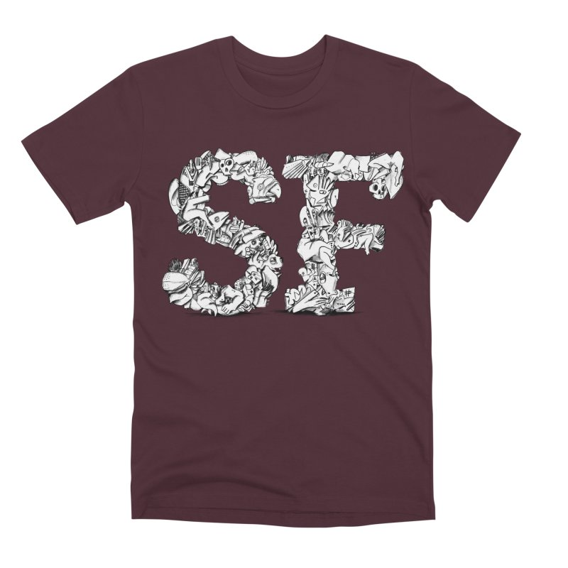 SF Letters for San Francisco Men's Premium T-Shirt by Peer Kriesel's Artist Shop