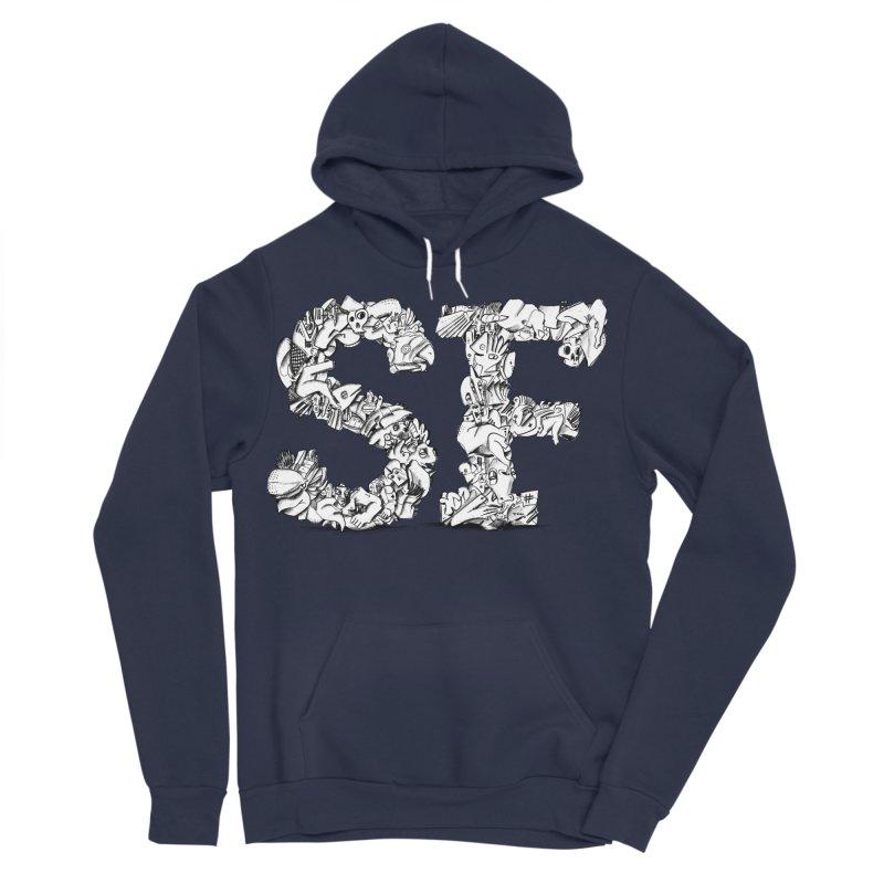 SF Letters for San Francisco Men's Sponge Fleece Pullover Hoody by Peer Kriesel's Artist Shop