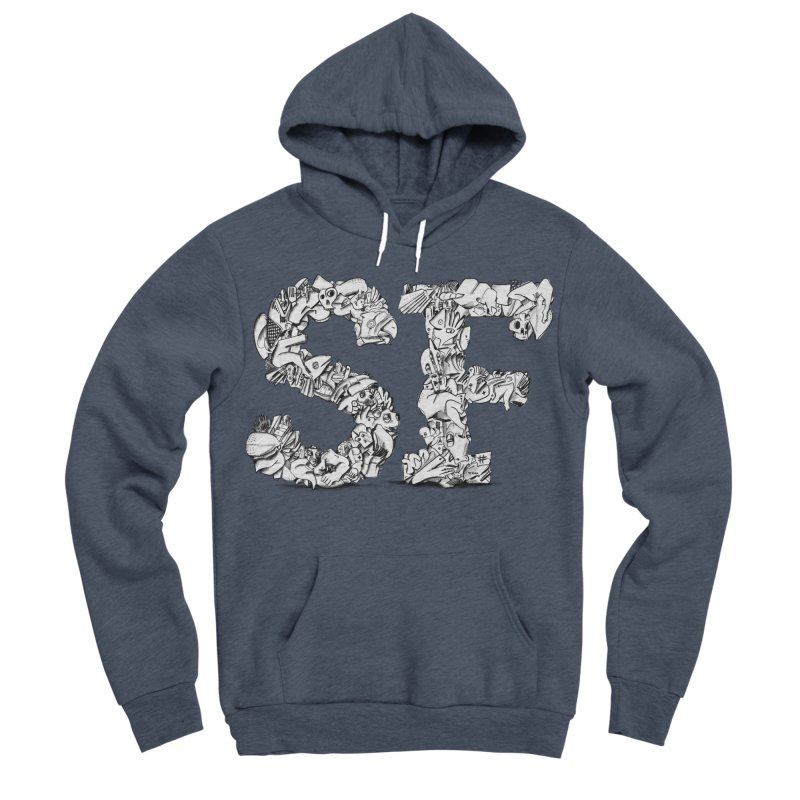 SF Letters for San Francisco Men's Sponge Fleece Pullover Hoody by Peer Kriesel's Artist Shop