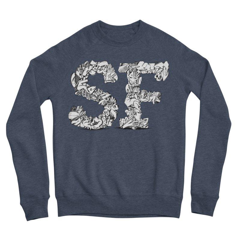 SF Letters for San Francisco Men's Sponge Fleece Sweatshirt by Peer Kriesel's Artist Shop