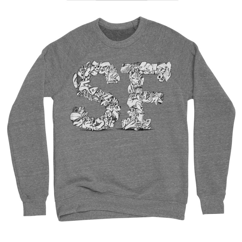 SF Letters for San Francisco Women's Sponge Fleece Sweatshirt by Peer Kriesel's Artist Shop