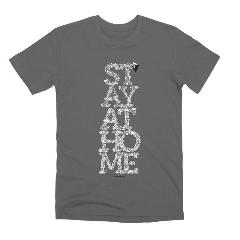 Stay At Home Men's T-Shirt by Peer Kriesel's Artist Shop