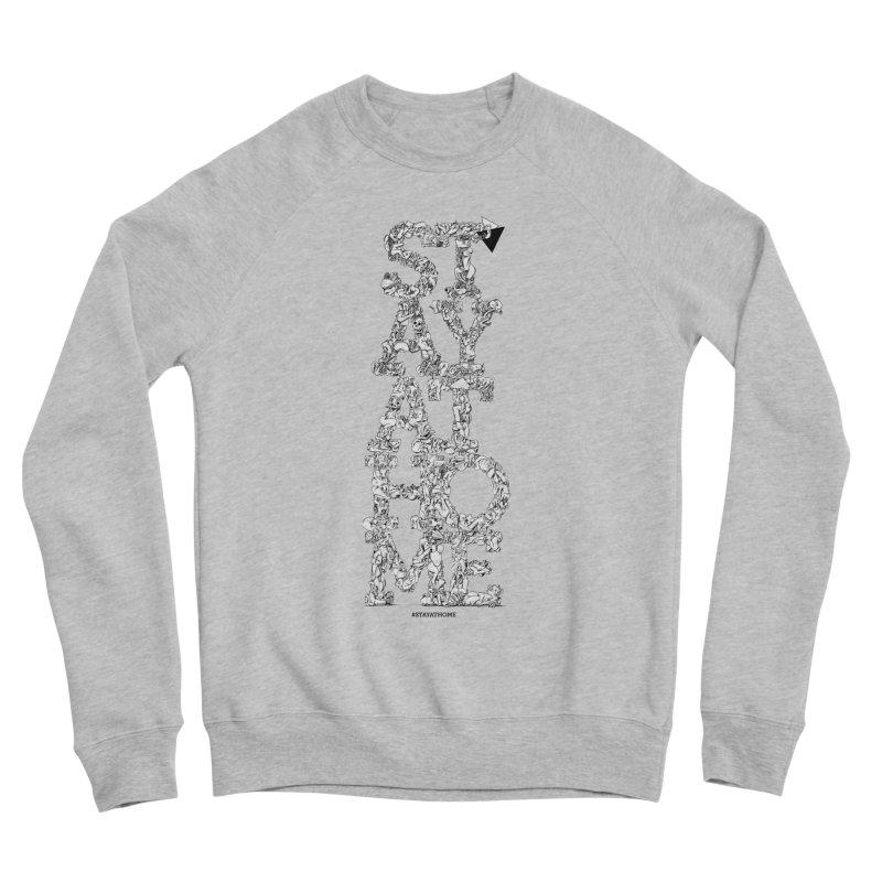 Stay At Home Men's Sponge Fleece Sweatshirt by Peer Kriesel's Artist Shop