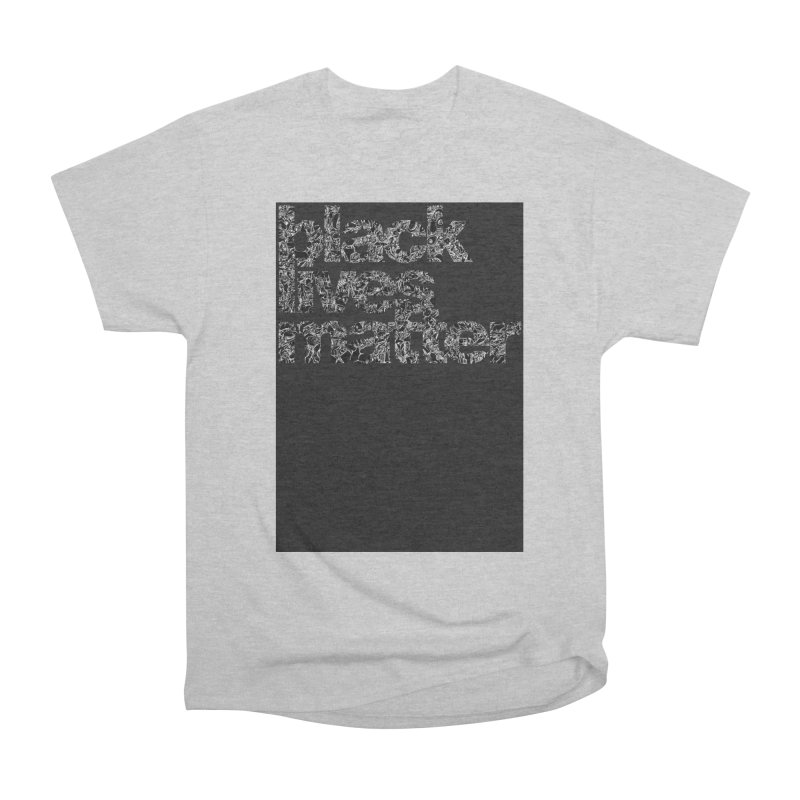 BLACK LIVES MATTER (FRTZN Block) Men's T-Shirt by Peer Kriesel's Artist Shop