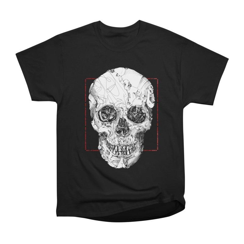 Please keep a distance of 1.50m - Skull (Red) Men's T-Shirt by Peer Kriesel's Artist Shop