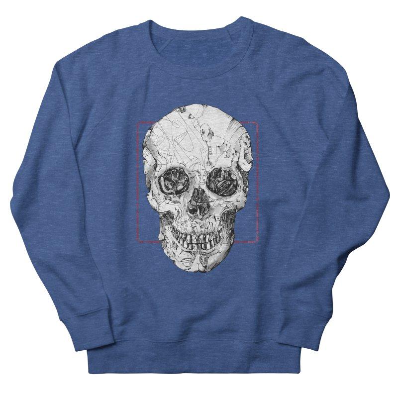 Please keep a distance of 1.50m - Skull (Red) Men's Sweatshirt by Peer Kriesel's Artist Shop