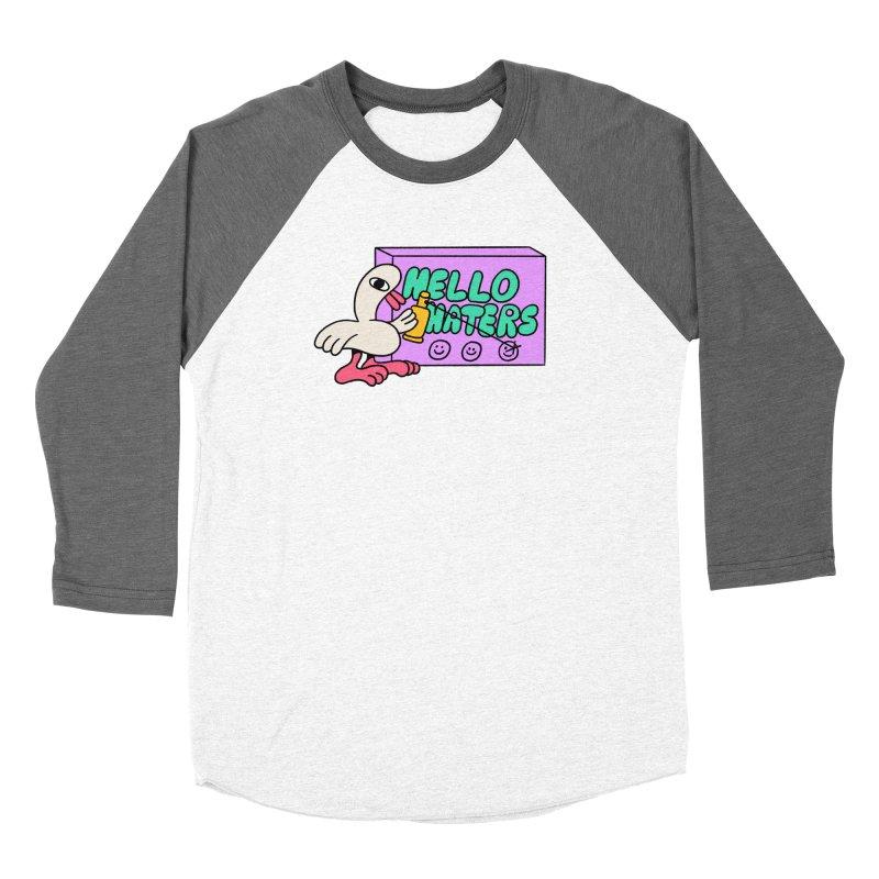 Hello haters Women's Baseball Triblend Longsleeve T-Shirt by PEIPER's Artist Shop