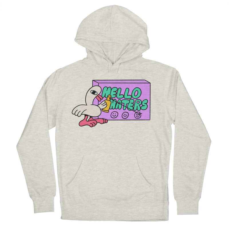 Hello haters Men's French Terry Pullover Hoody by PEIPER's Artist Shop