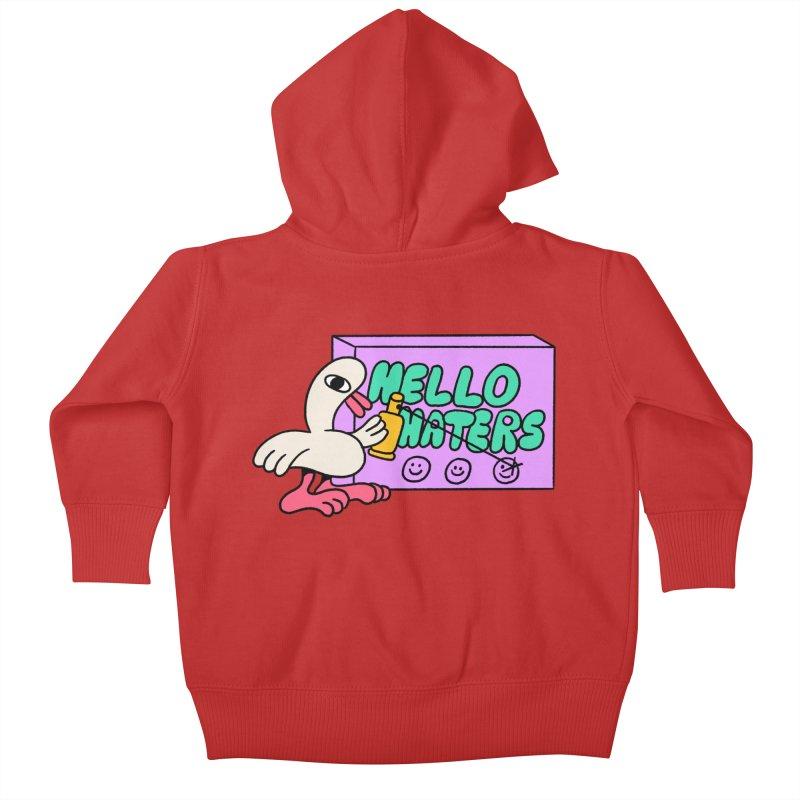Hello haters Kids Baby Zip-Up Hoody by PEIPER's Artist Shop