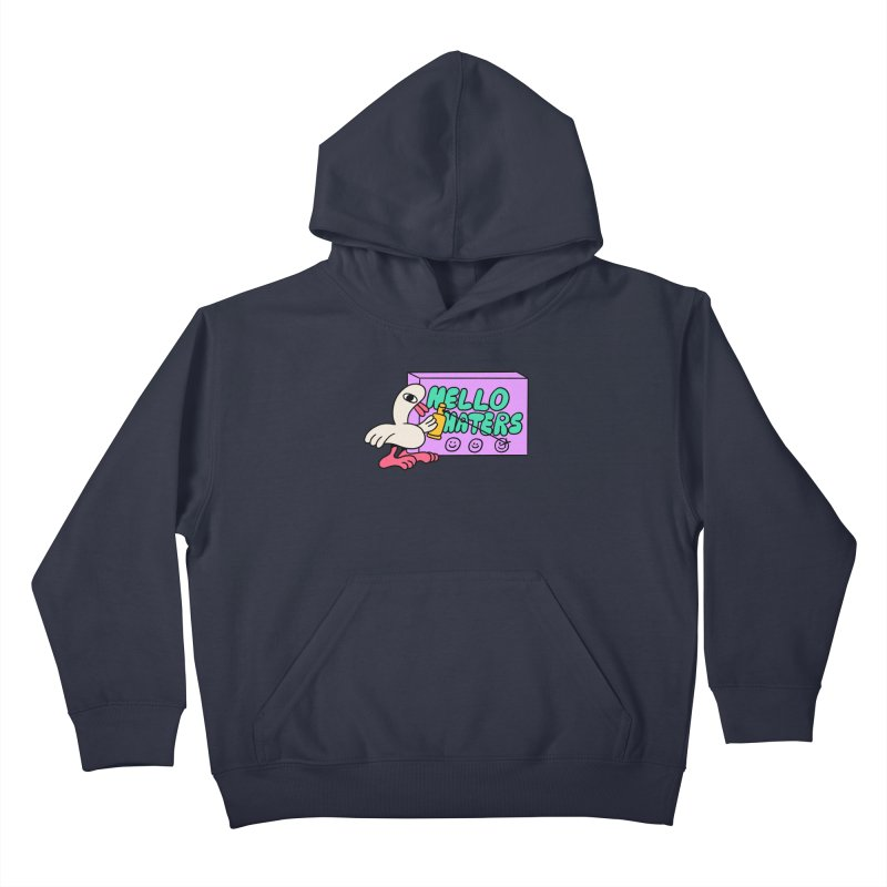 Hello haters Kids Pullover Hoody by PEIPER's Artist Shop
