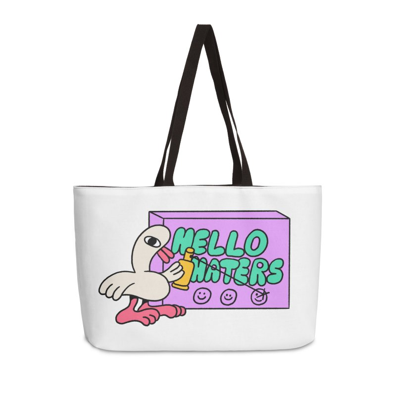 Hello haters Accessories Weekender Bag Bag by PEIPER's Artist Shop