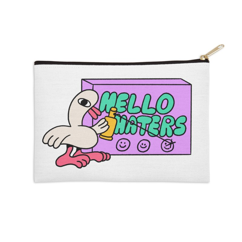 Hello haters Accessories Zip Pouch by PEIPER's Artist Shop