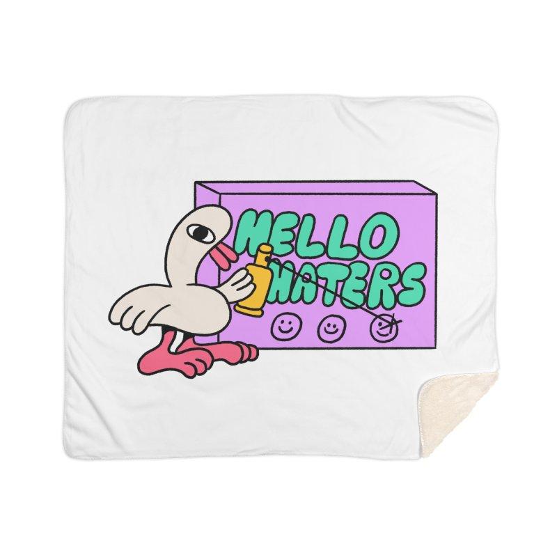 Hello haters Home Sherpa Blanket Blanket by PEIPER's Artist Shop