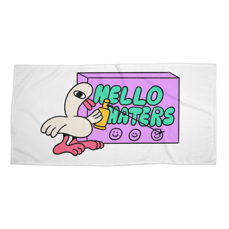 Hello haters Accessories Beach Towel by PEIPER's Artist Shop
