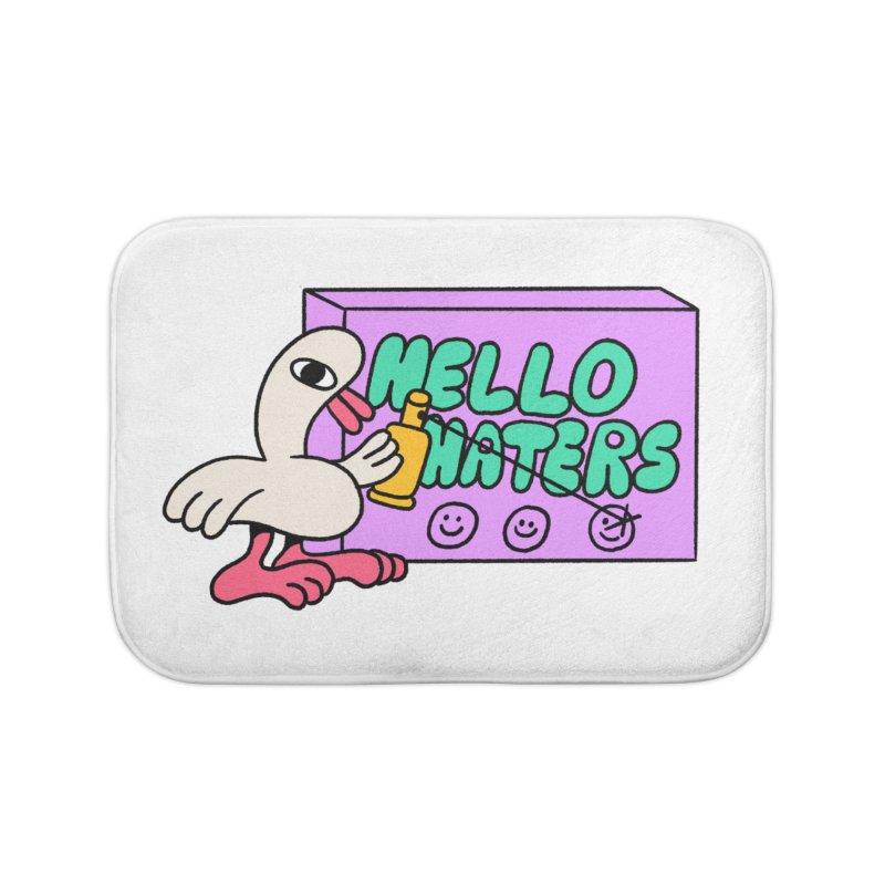 Hello haters Home Bath Mat by PEIPER's Artist Shop
