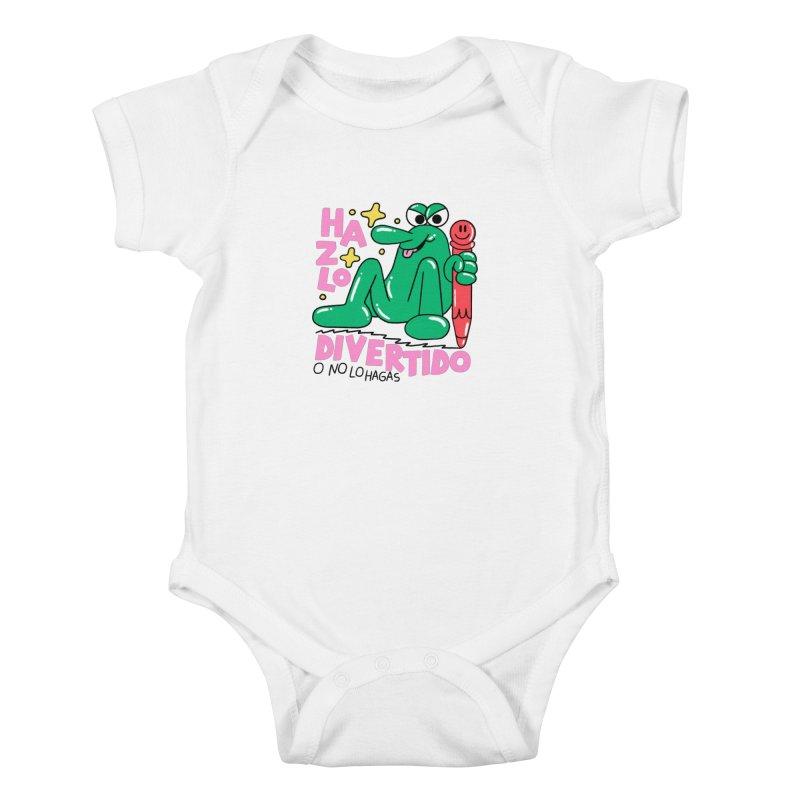 Hazlo divertido o no lo hagas Kids Baby Bodysuit by PEIPER's Artist Shop